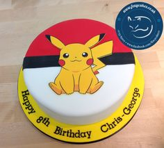 Pokemon Edible Image Cake, made by The Foxy Cake Co!
