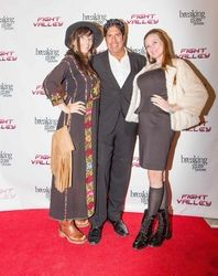 Amber Dawn Lee, Gordon Vasquez, Cindy Marinangel attending the 2015 American Film Market (AFM) - Kitesurfing TV Launch Party with Breaking Glass Pictures held at the Lounge at 1733 Ocean Avenue in Santa Monica, CA, USA on 11/08/2015 | GVA-000393