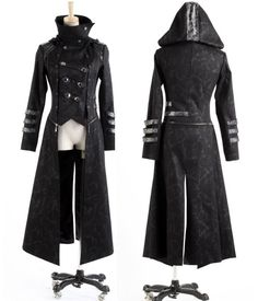 Fashion Unisex Punk Streampunk Visual Kei Gothic Long&short Jacket Coat Hoodie  #Punkrave #Motorcycle