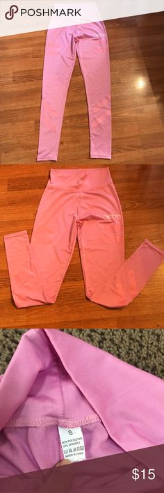 Pink Gym leggings Pink gym workout leggings never worn without tags. Size small Pants Leggings