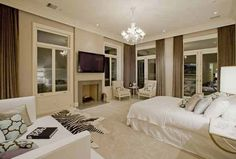 Modern Mansion Master Bedrooms