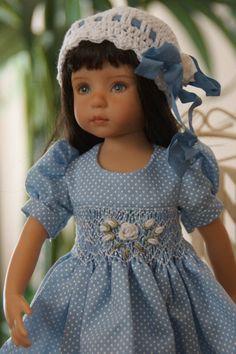 Effner 13 034 Little Darling Blue Heaven Ensemble by Ladybugs Doll Designs OOAK | eBay