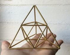 Pyramid air planter and table sculpture - small