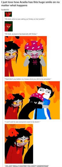 We can all relate to Aradia at an uncomfortable level, and that's why everyone secretly adores her.