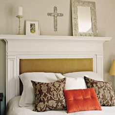 We've been looking for a headboard for our bed....maybe this is the way to go....finding an old mantel!