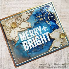 yaya scrap & more: SIMON MONDAY CHALLENGE THINKING OF YOU Christmas Card Crafts, Stampers Anonymous, Simon Says Stamp, Merry And Bright, Tim Holtz, My Works, Thinking Of You, Challenges, Memories
