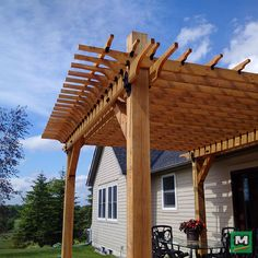 """The attention to detail on this patio project is truly impressive. Using 2"""" Rafter Clips with 2"""" High Velocity Rafter Clips from Laredo Sunset Collection by OZCO Building Products, this pergola provides the ultimate in structural strength and chic style."""