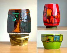 Poole Pottery Delphis vases