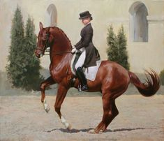 Dressage Painting by Dmitriy Kalujni Horse Drawings, Animal Drawings, Horse Posters, Chestnut Horse, Dressage Horses, Equine Art, Animal Fashion, Horse Girl, Show Horses