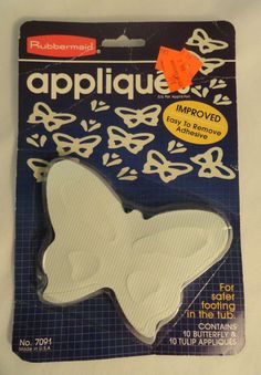 Charmant Vtg Rubbermaid Rubber Butterfly Tulip Appliques No Slip Bath Or Sink On  Etsy, $4.00