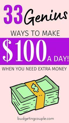 Saving Money Quotes, Money Saving Tips, Money Hacks, Money Tips, Ways To Save Money, How To Make Money, Make 100 A Day, Money Saving Challenge, Budgeting Finances