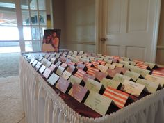 A placecard entrance for the guests.