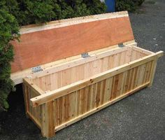 Easy Way To Store Outside Stuff   Pressure Treated Lumber | Projects To Do  Soon | Pinterest | Outdoor Storage, Storage Benches And Storage