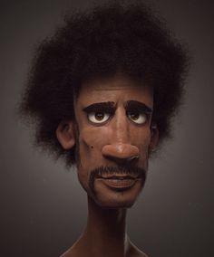 , an art print by Victor Hugo Queiroz Character Design Cartoon, 3d Model Character, Character Modeling, Character Design References, Character Design Inspiration, Character Art, 3d Modeling, Victor Hugo, Arte Hip Hop