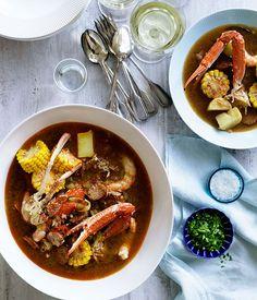 Australian Gourmet Traveller recipe for Frogmore stew.