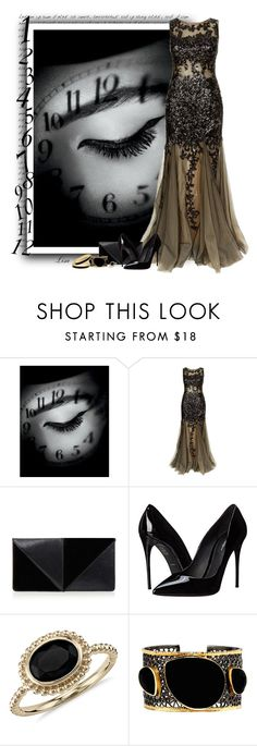 """""""Just in Time"""" by lmm2nd ❤ liked on Polyvore featuring MAC Cosmetics, Jovani, UN United Nude, Dolce&Gabbana, Blue Nile, Mela Artisans and Halcyon Days"""