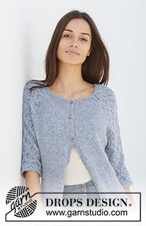 Blue nostalgia cardigan / DROPS - free knitting patterns by DROPS design Blue nostalgia cardigan / DROPS - free knitting patterns by DROPS design Always aspired to be able to knit, noneth. Ladies Cardigan Knitting Patterns, Crochet Patterns Free Women, Knit Cardigan Pattern, Crochet Cardigan, Knitting Patterns Free, Knit Patterns, Free Knitting, Knit Crochet, Blue Cardigan