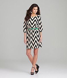 Gianni Bini Chevron Dress Gianni Bini Tan and Black Chevron Dress. In excellent condition. Belt not included. Cheap Dresses, Casual Dresses For Women, Cute Dresses, Cute Outfits, Clothes For Women, Chevron Dress, Navy Chevron, Daytime Dresses, Sweet Dress