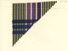 Plaid swatch. Unknown manufacturer. Late 19th century.