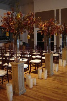 Need Stage Arrangements - perhaps tree branches spray painted bronze, silver and gold with podiums tiered