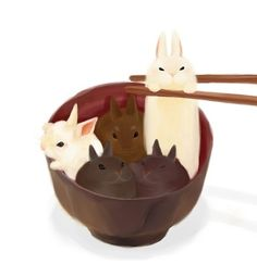 Find images and videos about animals, illustration and bunny on We Heart It - the app to get lost in what you love. Bunny Drawing, Bunny Art, Food Drawing, Cute Bunny, Kawaii Chibi, Kawaii Art, Cute Animal Drawings, Cute Drawings, Anime Pictures