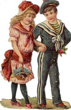 Glanzbilder - Victorian Die Cut - Victorian Scrap - Tube Victorienne - Glansbilleder - Plaatjes : Paare