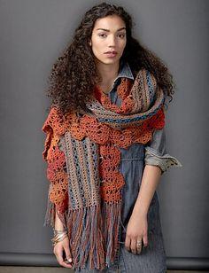 [Free Pattern] Crochet Globetrotter Shawl