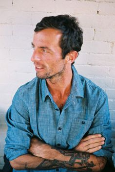 Chambray shirt and great tattoo's