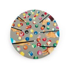 Bring vibrant design to any interior with this Snooker round wall mirror from Seletti wears Toiletpaper. Made from glass, this mirror has been adorned with a vibrant snooker design featuring hands aim Big Round Mirror, Round Mirrors, Pop Art Effect, Snooker Cue, Cool Mirrors, Mirror Mirror, Vintage Mirrors, Red Candy, Ideas