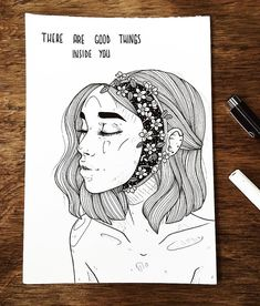 """2,669 Me gusta, 40 comentarios - artist. (@dinasaurus.art) en Instagram: """"inktober 28/31 ⭐️""""there are good things inside you"""" ⭐️/// even during hard times in your life,…"""""""