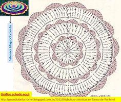 Mandala patron We are want to say thanks if you like to sh Mandala Au Crochet, Crochet Mat, Crochet Rug Patterns, Crochet Carpet, Crochet Dollies, Crochet Stars, Crochet Motifs, Crochet Diagram, Crochet Home