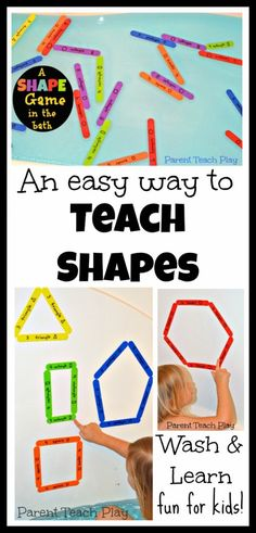 An Easy Way to Teach Shapes - Wash & Learn Fun for Kids from Parent Teach Play