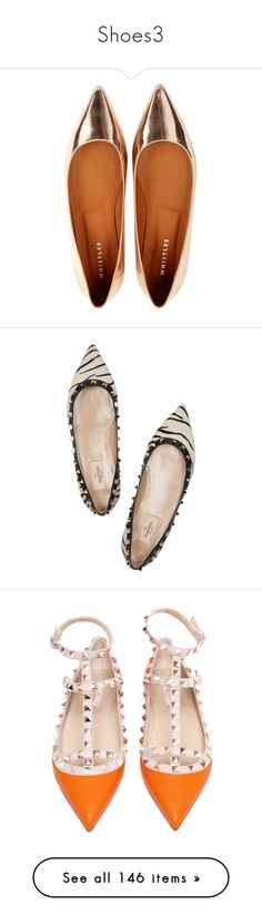 """Shoes3"" by somatramoroi ❤ liked on Polyvore featuring shoes, flats, zapatos, pale pink, ballerina flats, ballet flat shoes, ballerina shoes, ballerina pumps, flat pointy shoes and valentino"