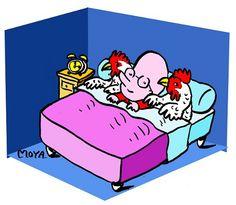 Dormir/ se coucher avec les poules = se coucher très tôt.
