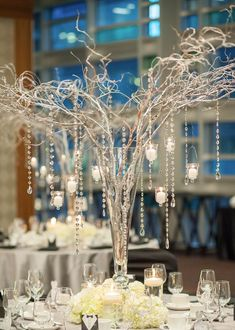 Featured Photographer: Blush Wedding Photography; Wedding reception centerpiece idea.