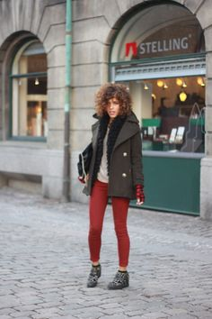 Christina from Trop Rouge wearing Goldsign jeans