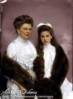Comtesse Sophie Chotek et sa fille Sophie, princesse de Hohenberg