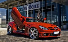 This is a Mercedes-Benz SLK AMG from Xclusive that is fitted with different mods such as Schrick Camshafts. Check out its photos and details here! Maserati, Lamborghini, Ferrari, Mercedes Slk, Aston Martin, Audi, Pretty Cars, Nice Cars, Hot Bikes