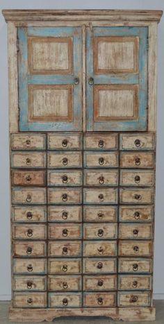 Cupboard Cabinet Apothecary Storage Country Chic Designer Decorator Rustic Hutch   eBay