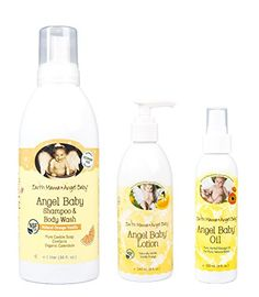 Introducing Maven Gifts Earth Mama Angel Baby 3Pack Bundle  8 oz Vanilla Orange Baby Lotion 34 oz Natural Orange Vanilla Baby Body Wash and Shampoo and 4 oz Baby Oil  Made in the USA. Get Your Ladies Products Here and follow us for more updates!
