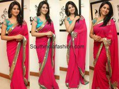 Model Shamili in Pink Saree Celebrity Sarees, Designer Sarees, Bridal Sarees, Latest Blouse Designs 2014 South India Fashion
