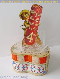 July 4th DIY: Make a Patriotic Vintage Heart Box | The Shed blog