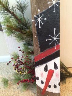 Christmas Wood Crafts, Pallet Christmas, Snowman Crafts, Christmas Signs, Rustic Christmas, Christmas Art, Christmas Projects, Holiday Crafts, Christmas Holidays