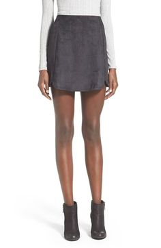 Faux Suede miniskirt- Nordstrom
