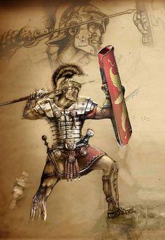Fan artwork on Roman legionary Ancient Rome, Ancient Art, Ancient Greece, Rome History, Ancient History, Roman Drawings, Armor Of God Tattoo, Roman Armor, Roman Centurion