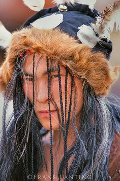 Tribal dancer, Ulaanbaatar, Mongolia
