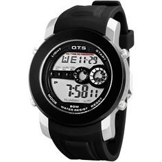 Silicone relogio masculino OTS Digital Wristwatches Mens watch Large LED Rubber Digital S Man Sports Watches horloges mannen #Affiliate