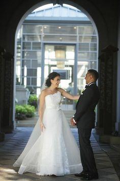 Romona Keveza bride Sara in dress RK533 featured in Wedding Wire.  #romonakeveza #weddingwire