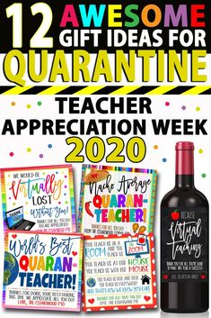 12 Gift Ideas For Quarantine Teacher Appreciation Week 2020 Showing love and appreciation to our beloved teachers this year is a little more challenging since they are all quaranti. Teacher Gift Tags, Teacher Thank You, Your Teacher, Thank You Ideas For Teachers, Easy Teacher Gifts, Teachers Week, Student Teacher Gifts, Teachers Day Gifts, Teacher Gift Baskets