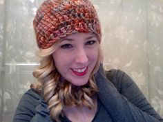 for sale on my etsy! Cute crocheted beanie!
